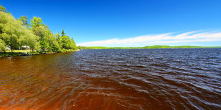 Panorama de Gogebic do lago Fotos de Stock