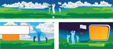 Panorama de golf Photographie stock libre de droits