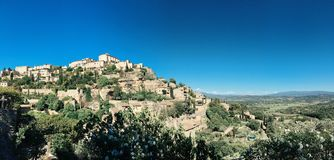 Panorama de Gordes Images libres de droits