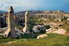 Panorama de Goreme en Turquía Imagen de archivo libre de regalías