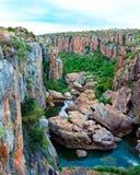 Panorama de gorge de fleuve de Blyde Image stock