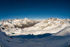 Panorama de Gornergrat Fotografia de Stock Royalty Free