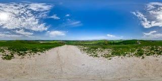 panorama de 360 grados del campo de Siena, Toscana Imagen de archivo