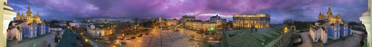 panorama de 360 grados del monasterio de San Miguel Fotografía de archivo