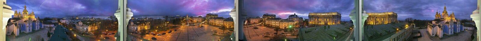 panorama de 360 grados del monasterio de San Miguel Imagenes de archivo