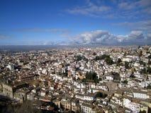 Panorama de Granada Spain imagem de stock royalty free