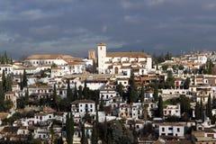 Panorama de Granada Spain fotos de stock royalty free
