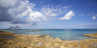 Panorama de Grand Cayman Image libre de droits