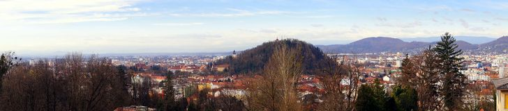 Panorama de Graz Estiria Austria Fotos de archivo libres de regalías