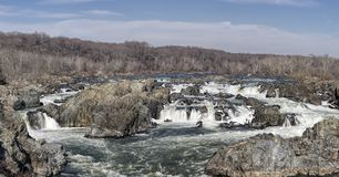 Panorama de Great Falls en Virginie Photographie stock