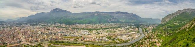 Panorama de Grenoble Fotos de Stock