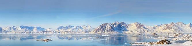 Panorama de Groenlandia Imágenes de archivo libres de regalías