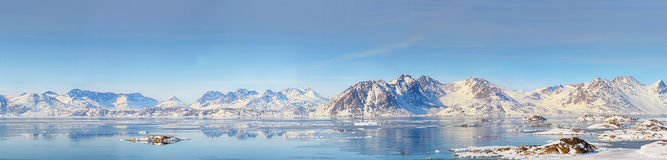Panorama de Gronelândia Imagens de Stock Royalty Free