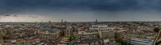 Panorama de Groninga de la torre de Martini fotos de archivo libres de regalías