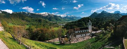 Panorama de Gruyères Imagem de Stock Royalty Free