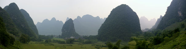 Panorama de Guilin Photo stock