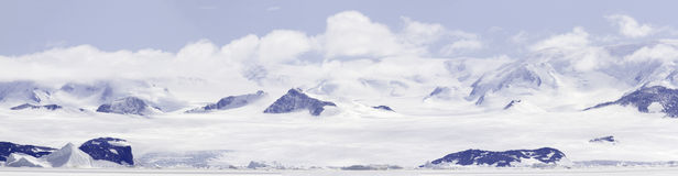 Panorama de Gustaf Sound, mar de Wheddle, a Antártica Fotografia de Stock Royalty Free
