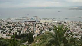 Panorama de Haifa video estoque
