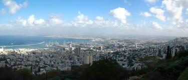 Panorama de Haifa, Israel Foto de archivo libre de regalías