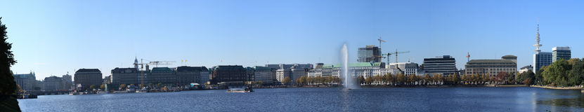 Panorama de Hambourg Photographie stock