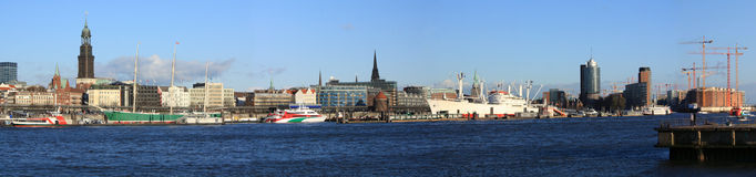 Panorama de Hambourg Photographie stock libre de droits