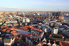 Panorama de Hamburgo Fotografia de Stock Royalty Free