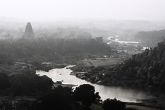 Panorama de Hampi imagen de archivo