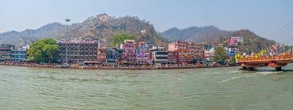 Panorama de Haridwar Fotos de archivo libres de regalías