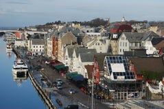 Panorama de Haugesund Foto de Stock Royalty Free