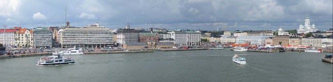Panorama de Helsinki Fotos de archivo