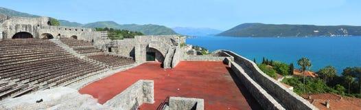 Panorama de Herceg Novi, Montenegro. Foto de Stock