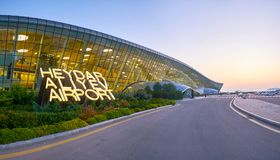 Panorama de Heydar Aliyev International Airport Photos libres de droits