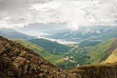 Panorama de higlands escoceses Foto de archivo libre de regalías