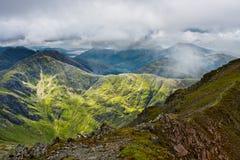 Panorama de higlands escoceses Imagen de archivo