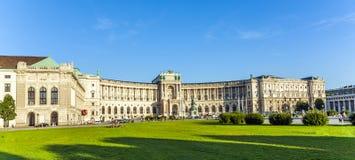 Panorama de Hofburg famoso en Viena, Austria imagen de archivo