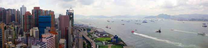 Panorama de Hong Kong image stock
