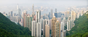 Panorama de Hong-Kong Imagen de archivo