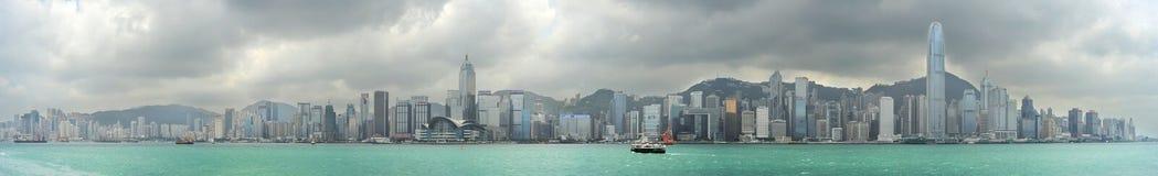 Panorama de Hong Kong Imagem de Stock