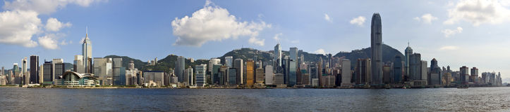 Panorama de Hong Kong Images libres de droits