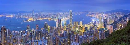 Panorama de Hong Kong Image libre de droits