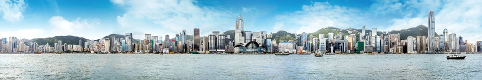 Panorama de Hong Kong Fotos de Stock Royalty Free