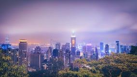 Panorama de Hong Kong central photographie stock