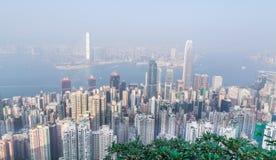 Panorama de Hong Kong par jour Photos libres de droits