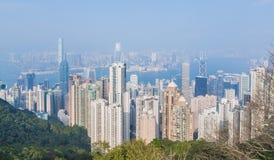 Panorama de Hong Kong par jour Photo libre de droits