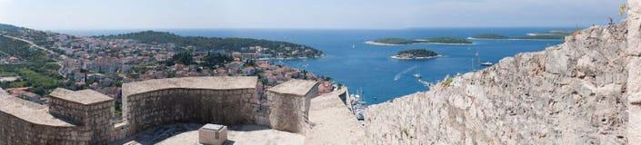 Panorama de Hvar Image libre de droits