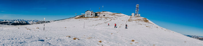 Panorama de inclinações de montanha Foto de Stock