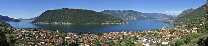 Panorama de Iseo del lago Imágenes de archivo libres de regalías