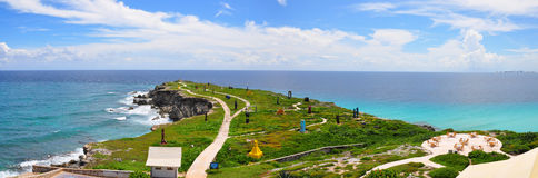 Panorama de Isla Mujeres, México Imagenes de archivo
