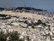 Panorama 2012 de Jérusalem le mont des Oliviers Image stock