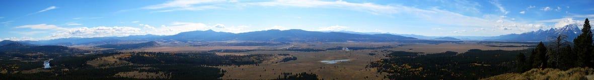 Panorama de Jackson Hole (Wyoming, Idaho, EUA) Fotografia de Stock Royalty Free